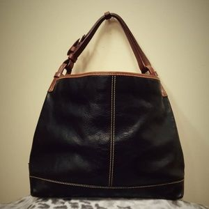 388cd27be0a3 Dooney   Bourke Bags -   SALE Dooney   Bourke Duck Black Leather Hobo Bag